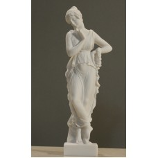 PERSEPHONE Goddess Queen of the underworld Cast Alabaster Sculpture Statue 9.8 inches